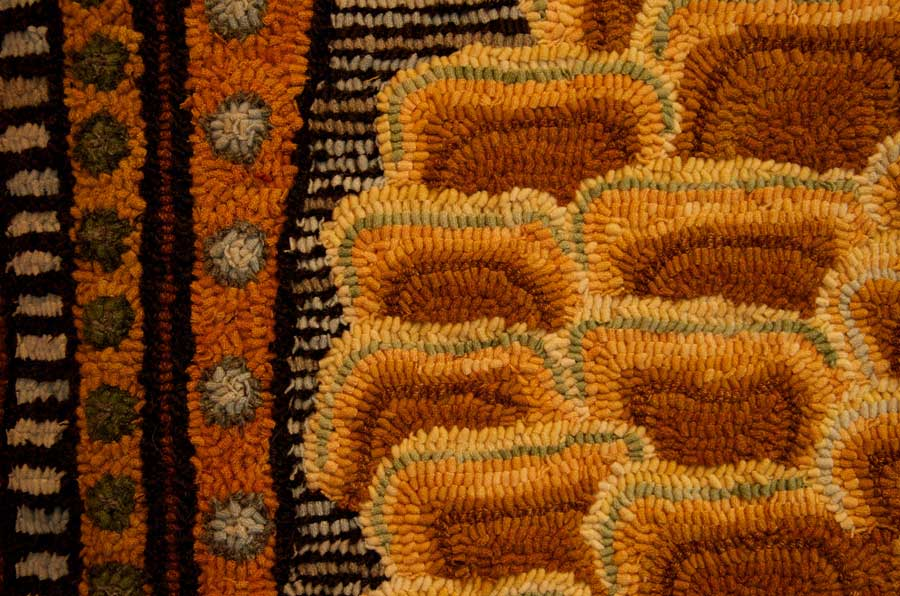 detail of one of Anne's rugs