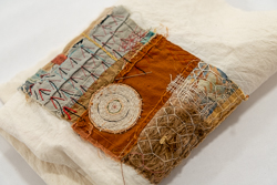 Hand stitched work by Eastport artist-in-residence