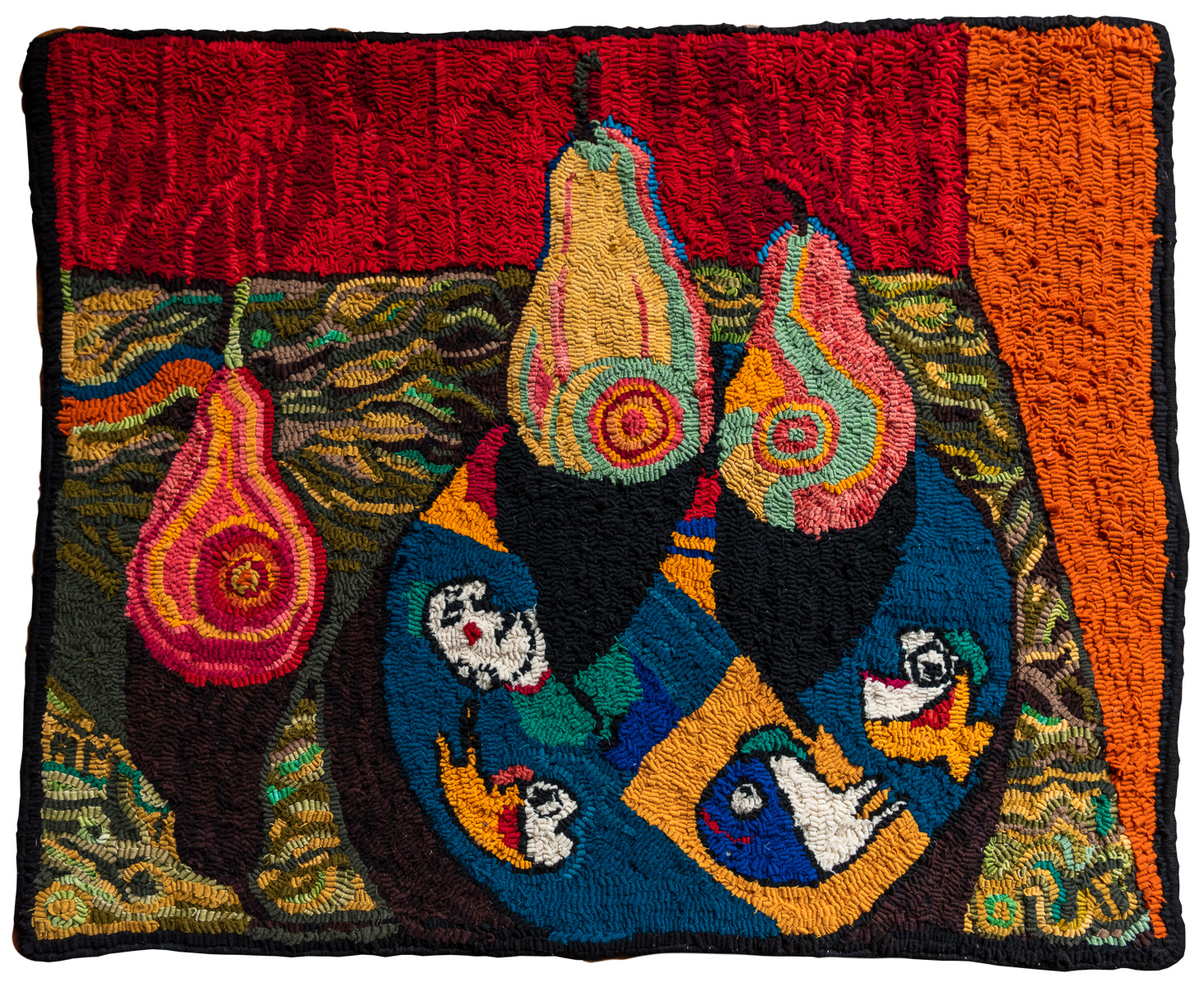hooked rug from Hooked on Spring exhibit