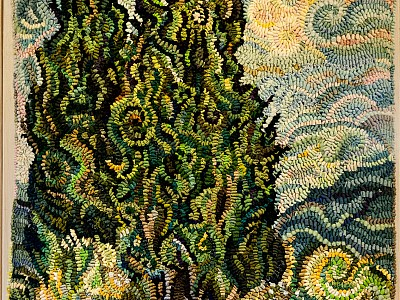 Cypresses by Janet Conner and VanGogh